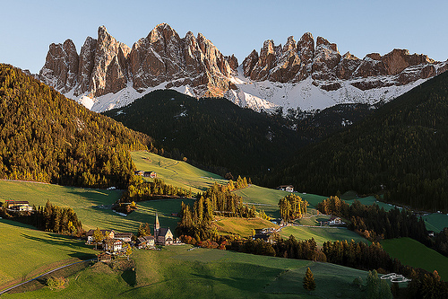 Santa Maddalena and Mt. Odle in the Italian Dolomites.2