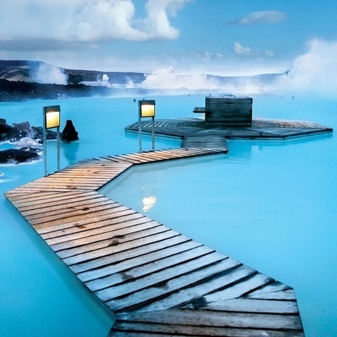 The Blue Lagoon in Iceland.