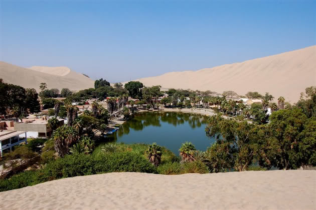 The Huacachina Oasis in Peru.