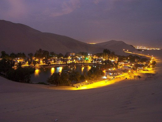 The Huacachina Oasis in Peru.2