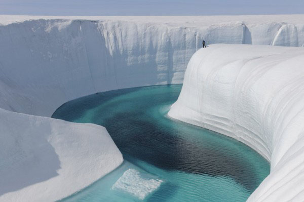The Ice Canyons of Greenland.