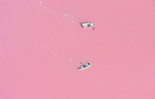 The-pink-waters-of-Lake-Retba-in-Senegal.