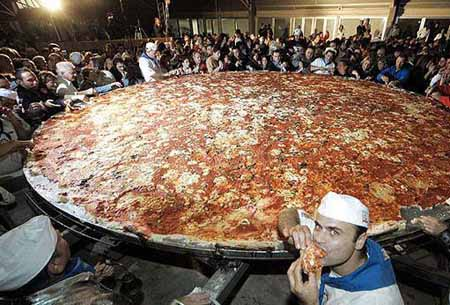 biggest pizza