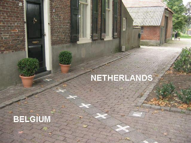 The Border between Netherlands and Belgium.