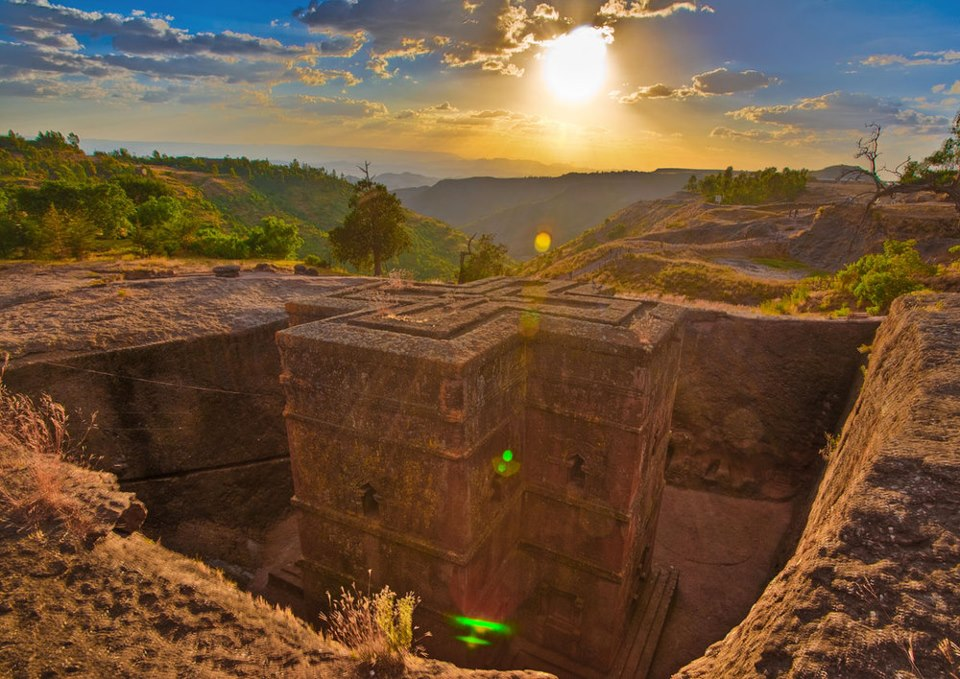 church in Ethiopia, Carved from solid rock