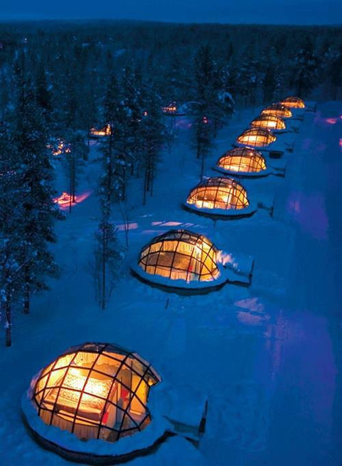 glass igloo for rent finland