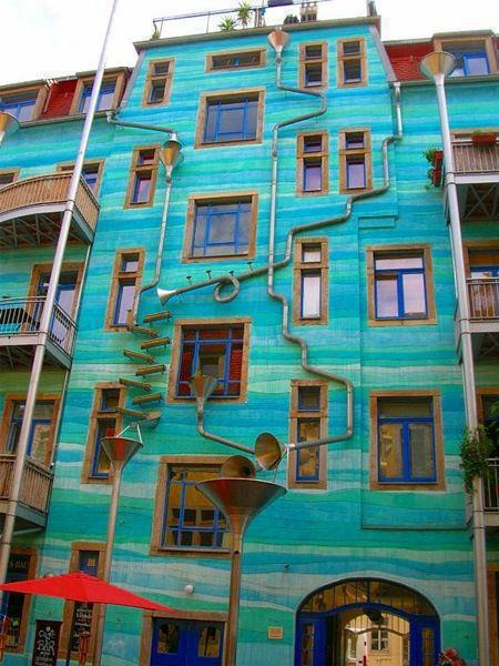 wall plays music in rain