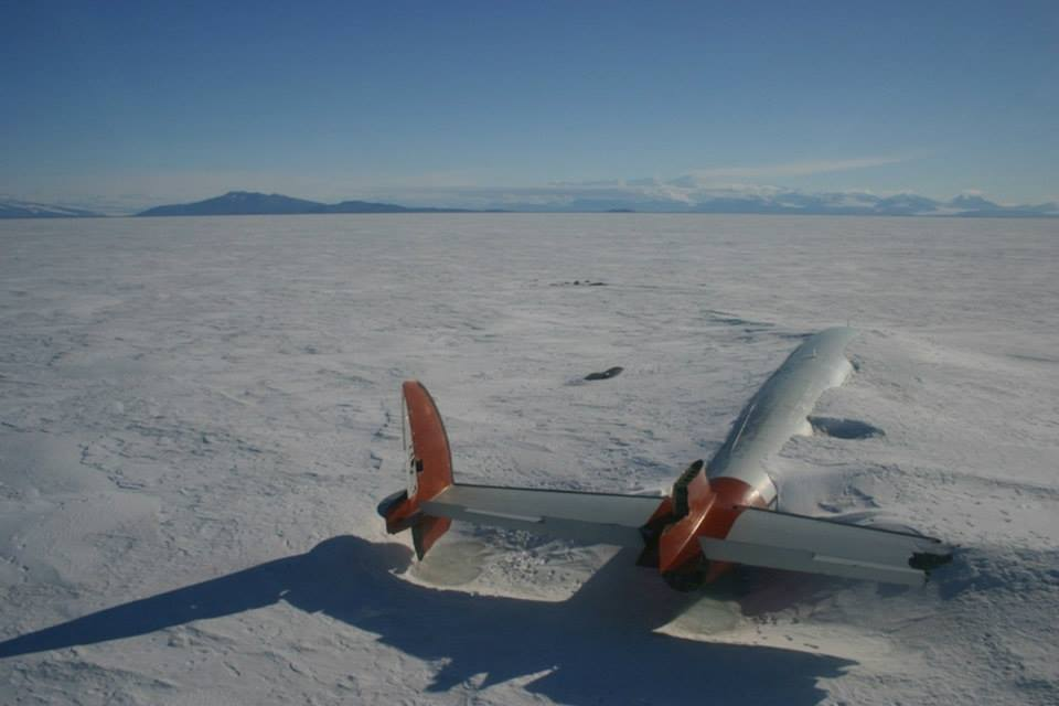The remains of the Pegasus in McMurdo Sound, Antartica