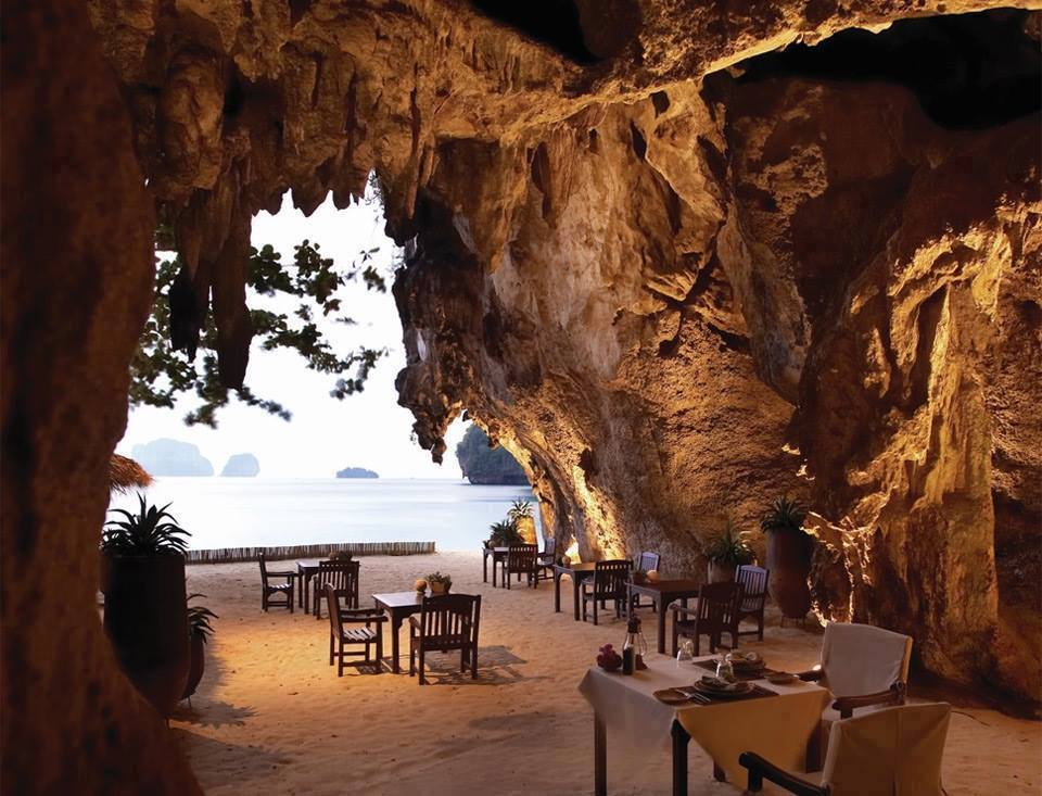 inside a cave Thailand
